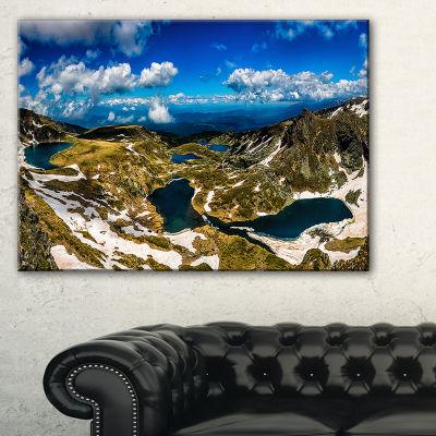 Designart Bright Blue Sky Over Seven Rila Lakes Canvas Art