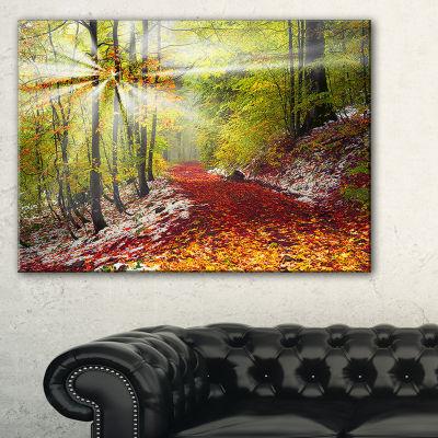 Designart Bright Colorful Alpine Forest Canvas Art