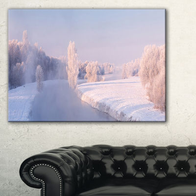 Designart Bright Colorful Winter Day Canvas Art
