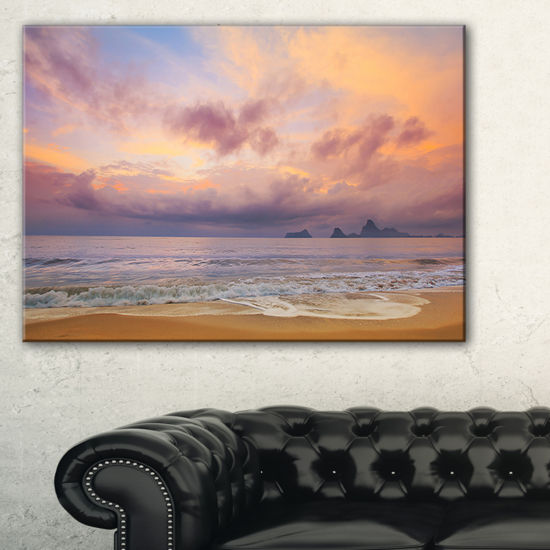 Designart Bright Morning Over The Sea Canvas Art