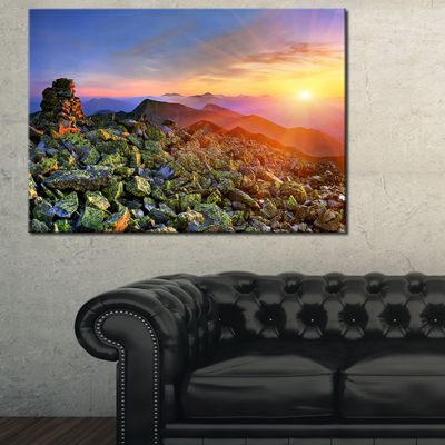 Designart Bright Sun In Carpathian Mountains Canvas Art