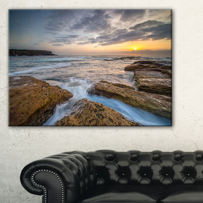 Designart Bright Sydney Coastline View Canvas Art