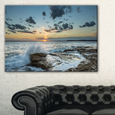 Designart Bright Sydney Sunset Over Sea Canvas Art