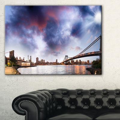 Designart Brooklyn Bridge Over East River Canvas Art