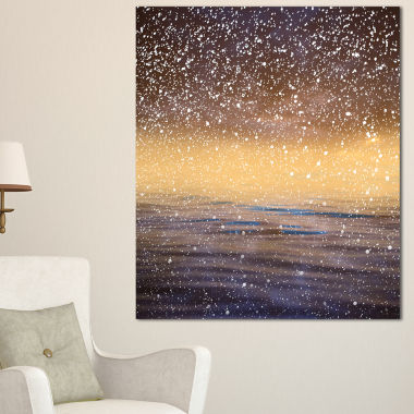 Designart Brown Sky Reflection In Lake Canvas Art