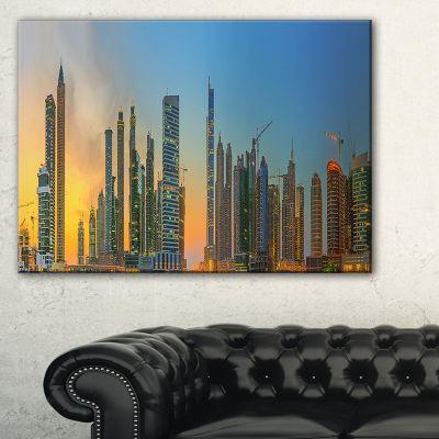 Designart Business Bay And Downtown Dubai Canvas Art