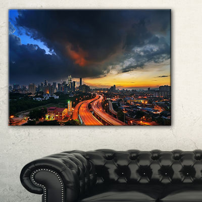 Designart Busy Elevated Highway In Kula Lumpur Canvas Art