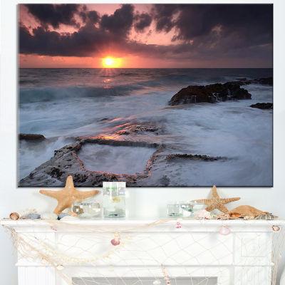 Designart Cable Shallow Coast Cascais Portugal Canvas Art