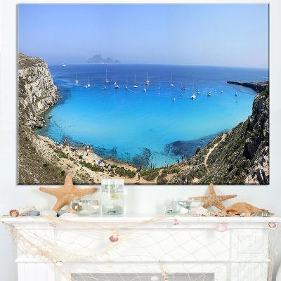 Designart Cala Rossa Beach Sicily Italy Canvas Art