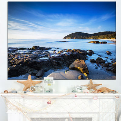 Designart Cala Violina Bay Beach In Maremma Canvas Art