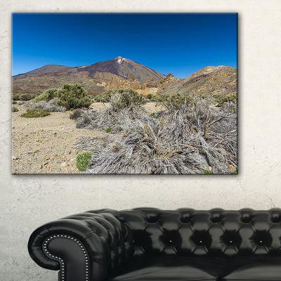 Designart Caldera Of The Volcano Teide Canvas Art