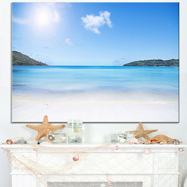Designart Calm Beach Of Azure Indian Ocean Canvas Art