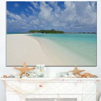 Designart Calm Seashore At Tropical Beach Canvas Art