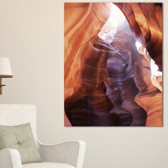 Designart Canyon Antelope With Purple Sunlight Canvas Art