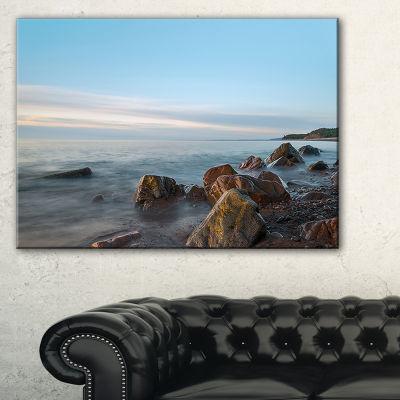 Designart Cape Breton Beach Nova Scotia Canada Canvas Art