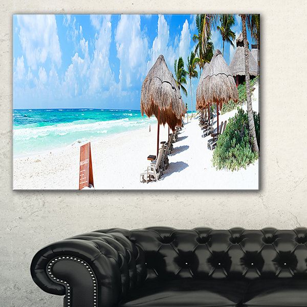 Designart Caribbean Coast In Tulum Mexico Canvas Art
