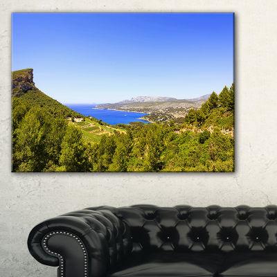 Designart Cassis Bay From Route Des Cretes Canvas Art