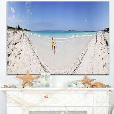 Designart Cayo Coco Tropical Beach Panorama Canvas Art