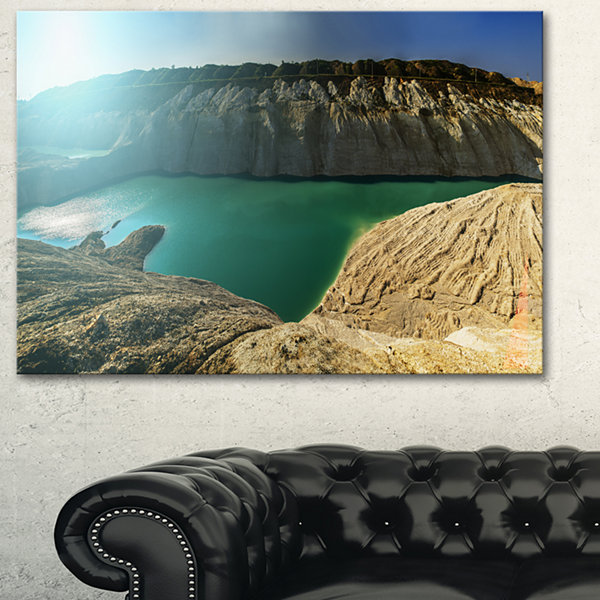 Designart Chalk Quarry In Belarus Panorama Canvas Art