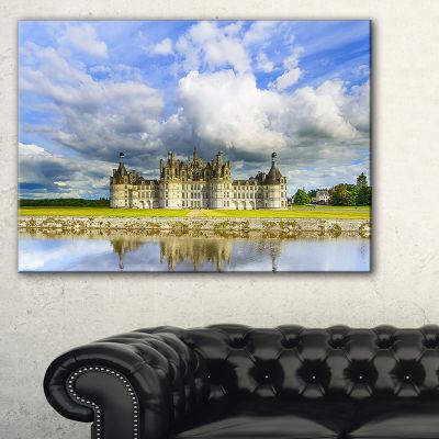 Designart Chateau De Chambord Castle And Reflection Canvas Art
