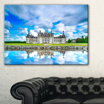 Designart Chateau De Chambord Castle In Blue Canvas Art