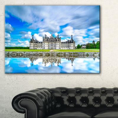 Designart Chateau De Chambord Castle In Blue Canvas Art