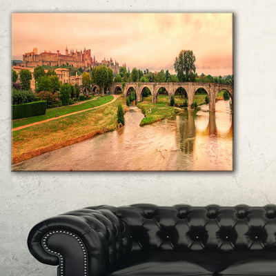 Designart Cite De Carcassonne Panorama Canvas Art