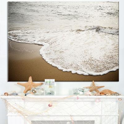 Designart Close Up Waves In Mediterranean Sea Canvas Art