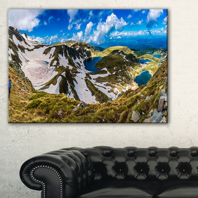 Designart Clouds Over Seven Rila Lakes Canvas Art