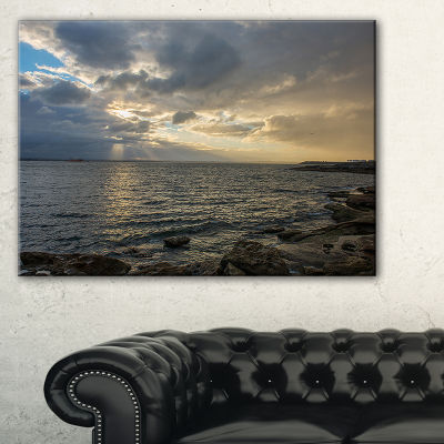 Designart Cloudy Australian Seashore In Sydney Canvas Art