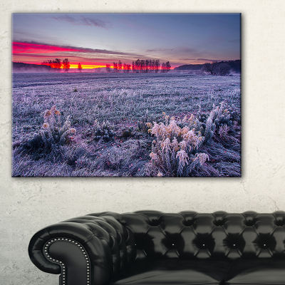 Designart Colorful Cold Frosty Morning Canvas Art
