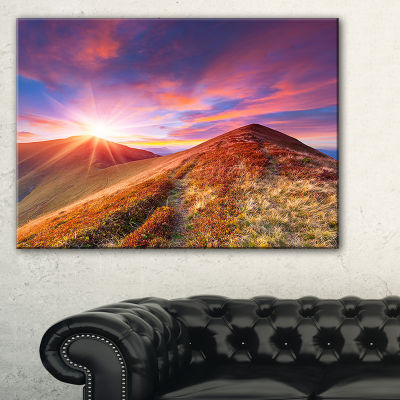 Designart Colorful Grass And Clouds 3-pc. Canvas Art