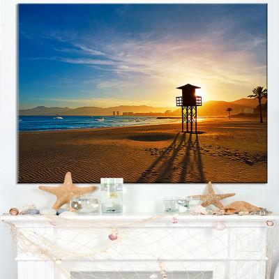 Designart Colorful Sunset In Valencia Canvas Art