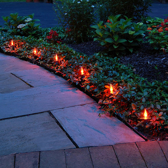 Electric Flickering Pathway Lights (Set of 10)