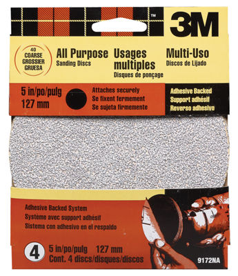 "3M 9172Es 5"" Coarse Adhesive Backed Discs"