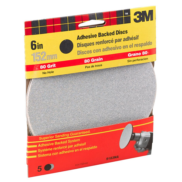 3M 9183Dc-Na 6IN Medium Adhesive Backed Discs