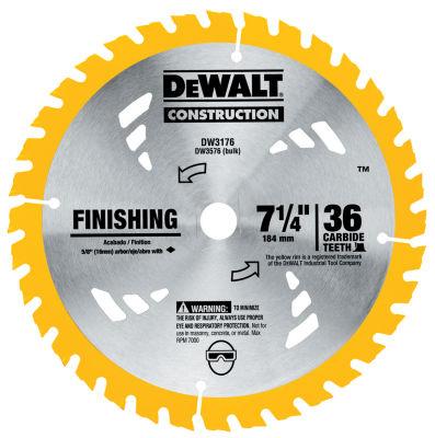 Dewalt Dw3176 7-1/4IN 36T Finishing Circular Saw Blade