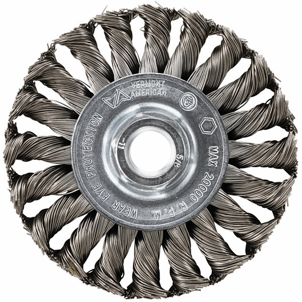 "Vermont American 16855 4"" Knotted Wire Wheel"