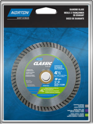 "Norton 02790 4-1/2"" Turbo Rim General Purpose Saw Blade"