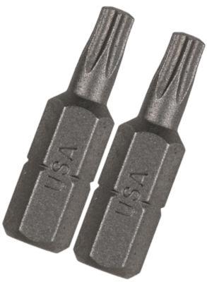 "Vermont American 15401 1"" Tx8 Extra Hard Torx Insert Power Bits 2 Count"