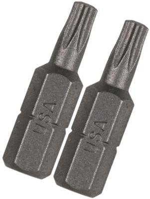 "Vermont American 15402 1"" Tx9 Extra Hard Torx Insert Power Bits 2 Count"