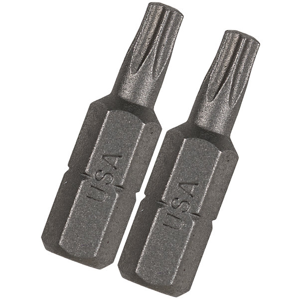 "Vermont American 15402 1"" Tx9 Extra Hard Torx Insert Power Bits 2 Count"