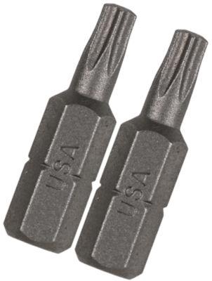 "Vermont American 15405 1"" Tx20 Extra Hard Torx Insert Power Bits 2 Count"