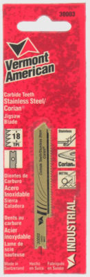 "Vermont American 30003 2-3/4"" 18 Tpi Carbide Jigsaw Blade"