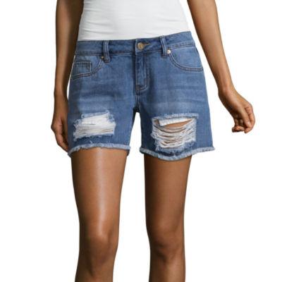 """Ashley Mason 2"""" Denim Shorts-Juniors"""