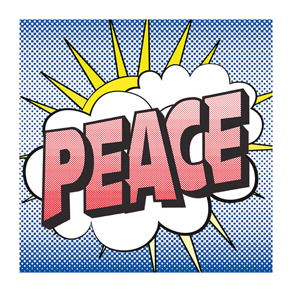 Pop Peace 2 Canvas Art