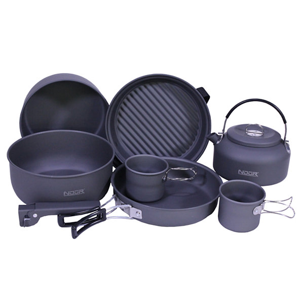 Proforce Equipment Cookware 9 Piece Mess Kit with Kettle