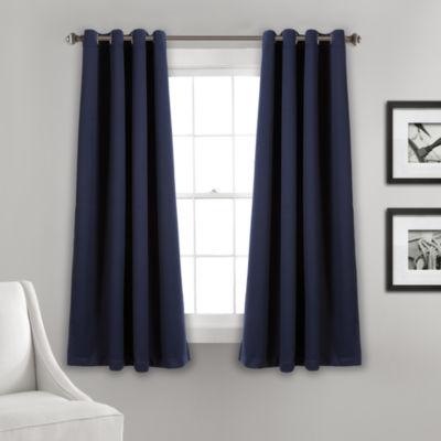 Lush Décor Insulated Grommet Blackout Curtain Panel Set