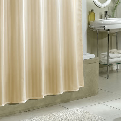 Excell Home Fashions Damask Stripe Woven Shower Curtain Liner