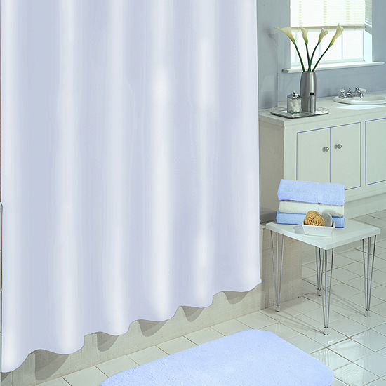Excell Home Fashions Deluxe Magnet Liner Vinyl Shower Curtain